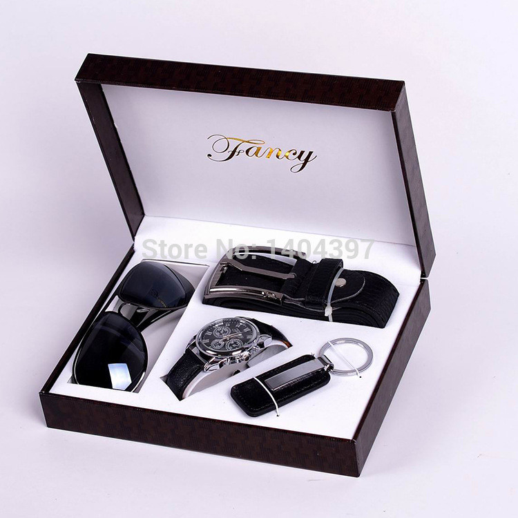 Best ideas about Birthday Gifts Men . Save or Pin Men Birthday Gift Suit Package Car Key Ring SunGlasses Now.