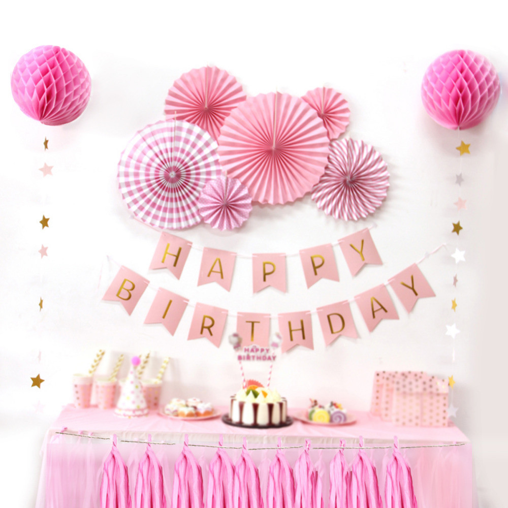 Best ideas about Birthday Girl Decorations . Save or Pin Birthday Party Hanging Paper Decoration Kit Banner Tassel Now.