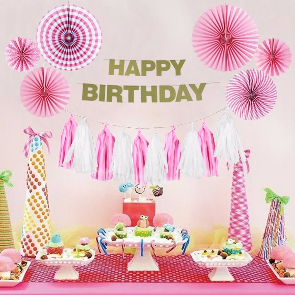 Best ideas about Birthday Girl Decorations . Save or Pin Pink Theme Birthday Party Decoration Happy Birthday Girl Now.
