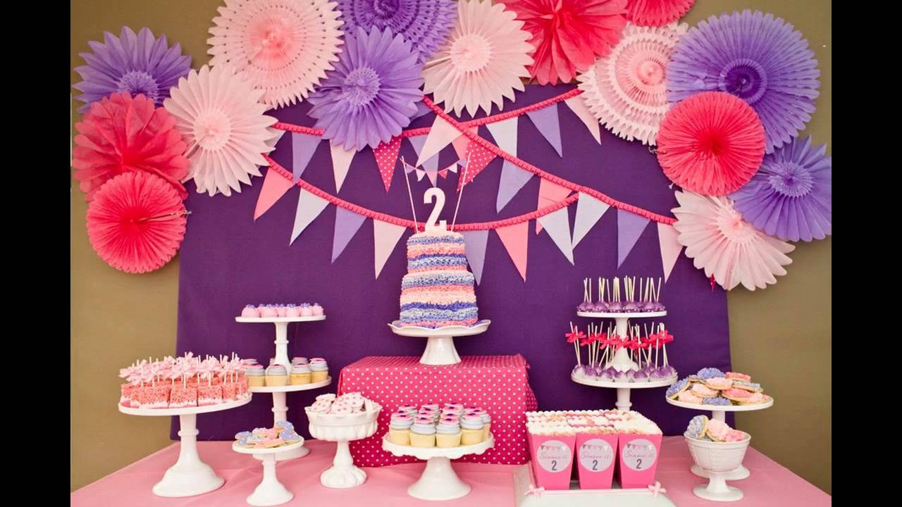 Best ideas about Birthday Girl Decorations . Save or Pin Cool Girls birthday party decorations ideas Now.