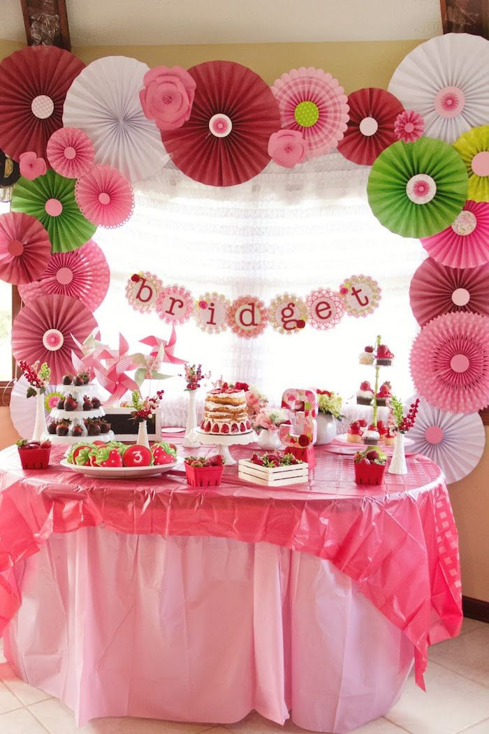 Best ideas about Birthday Girl Decorations . Save or Pin 43 best images about Strawberry Shortcake Baby Shower on Now.