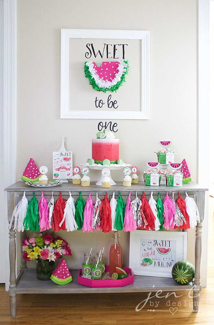 Best ideas about Birthday Girl Decorations . Save or Pin 10 Favorite Summer 1st Birthday Party Ideas on Love the Day Now.
