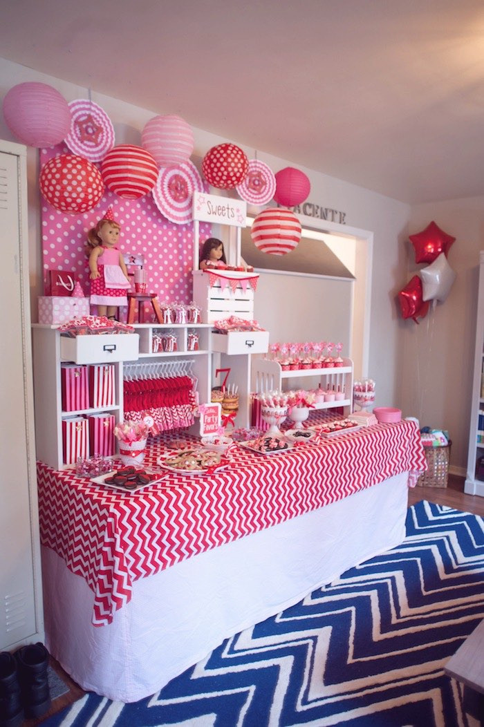 Best ideas about Birthday Girl Decorations . Save or Pin Kara s Party Ideas American Girl Doll Themed Birthday Now.