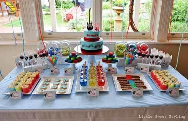 Best ideas about Birthday Ideas For Boys . Save or Pin Guitar Rock Star 4th Birthday Spaceships and Laser Beams Now.