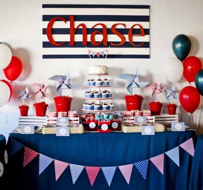 Best ideas about Birthday Ideas For Boys . Save or Pin 12 Nautical Birthday Party and Baby Shower Ideas Now.