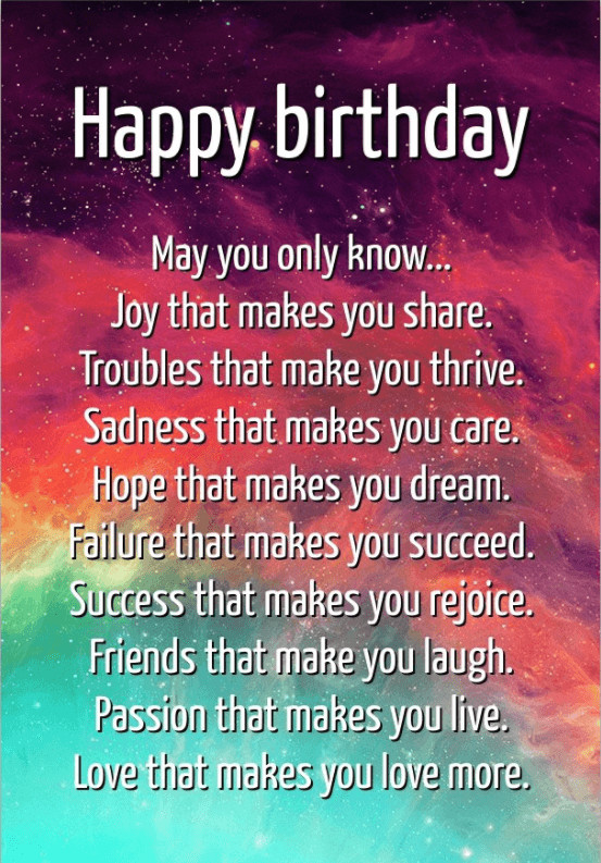 Best ideas about Birthday Inspirational Quotes . Save or Pin 65 Best Encouraging Birthday Wishes and Famous Quotes Now.