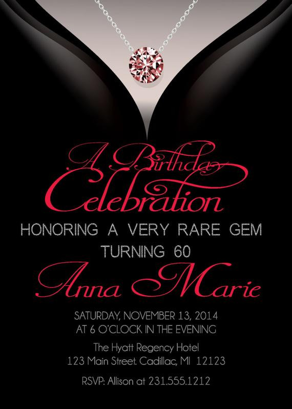 Best ideas about Birthday Invitations For Adults . Save or Pin 60th Birthday Invitations Adult Birthday Invitation Now.