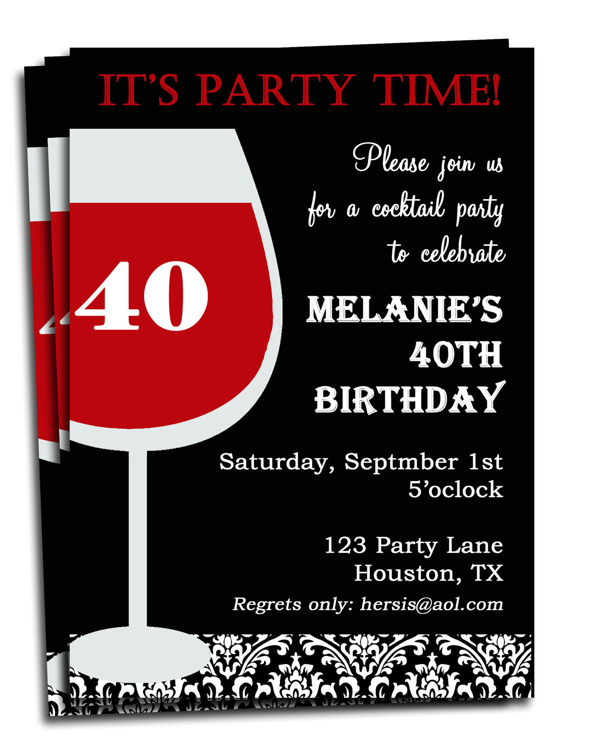 Best ideas about Birthday Invitations For Adults . Save or Pin Adult Birthday Invitation Printable Personalized for your Now.