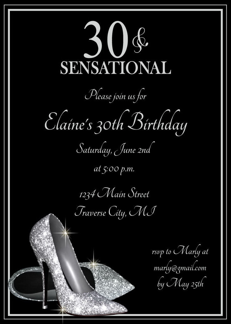 Best ideas about Birthday Invitations For Adults . Save or Pin Silver Glitter Shoes Adult Birthday Party Invitations Now.