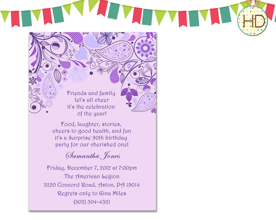 Best ideas about Birthday Invitations For Adults . Save or Pin Bridal Shower Invitation Adult Birthday by HDInvitations Now.