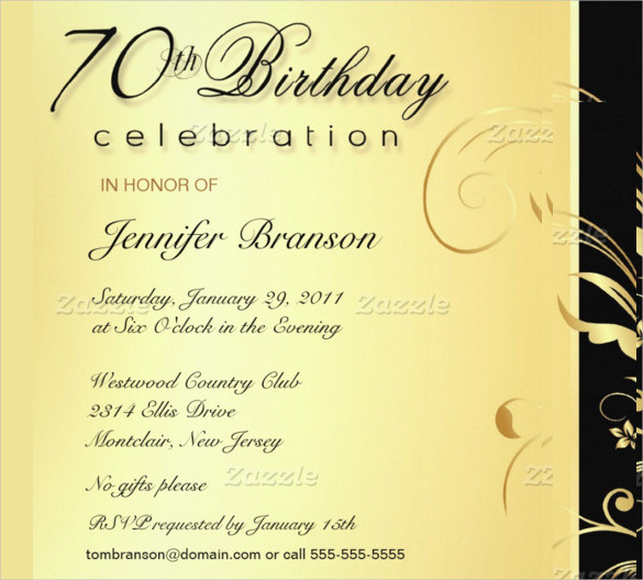 Best ideas about Birthday Invitations For Adults . Save or Pin 40 Adult Birthday Invitation Templates PSD AI Word Now.