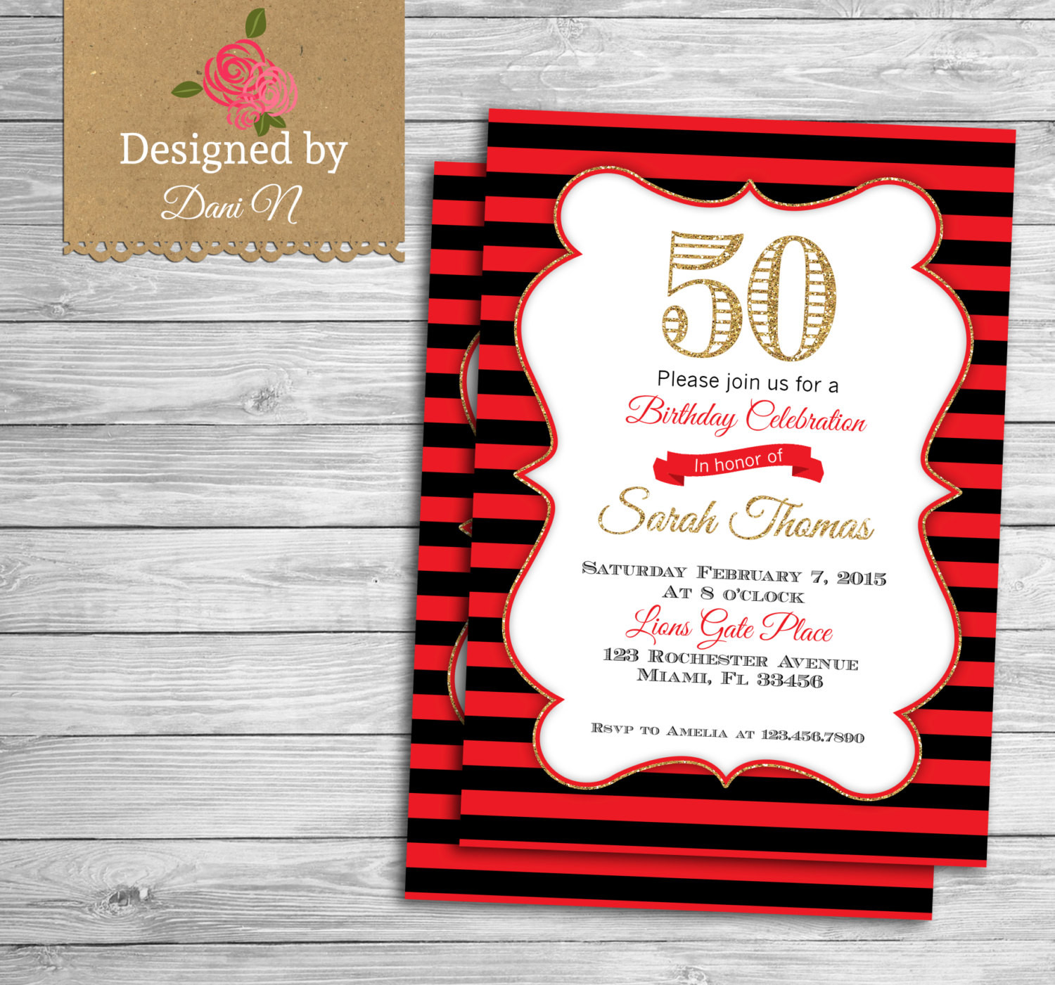 Best ideas about Birthday Invitations For Adults . Save or Pin Adult Birthday INVITATION 50th birthday invite adult party Now.