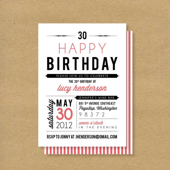 Best ideas about Birthday Invitations For Adults . Save or Pin Adult Birthday Invitations 35 Pretty Examples Jayce o Yesta Now.