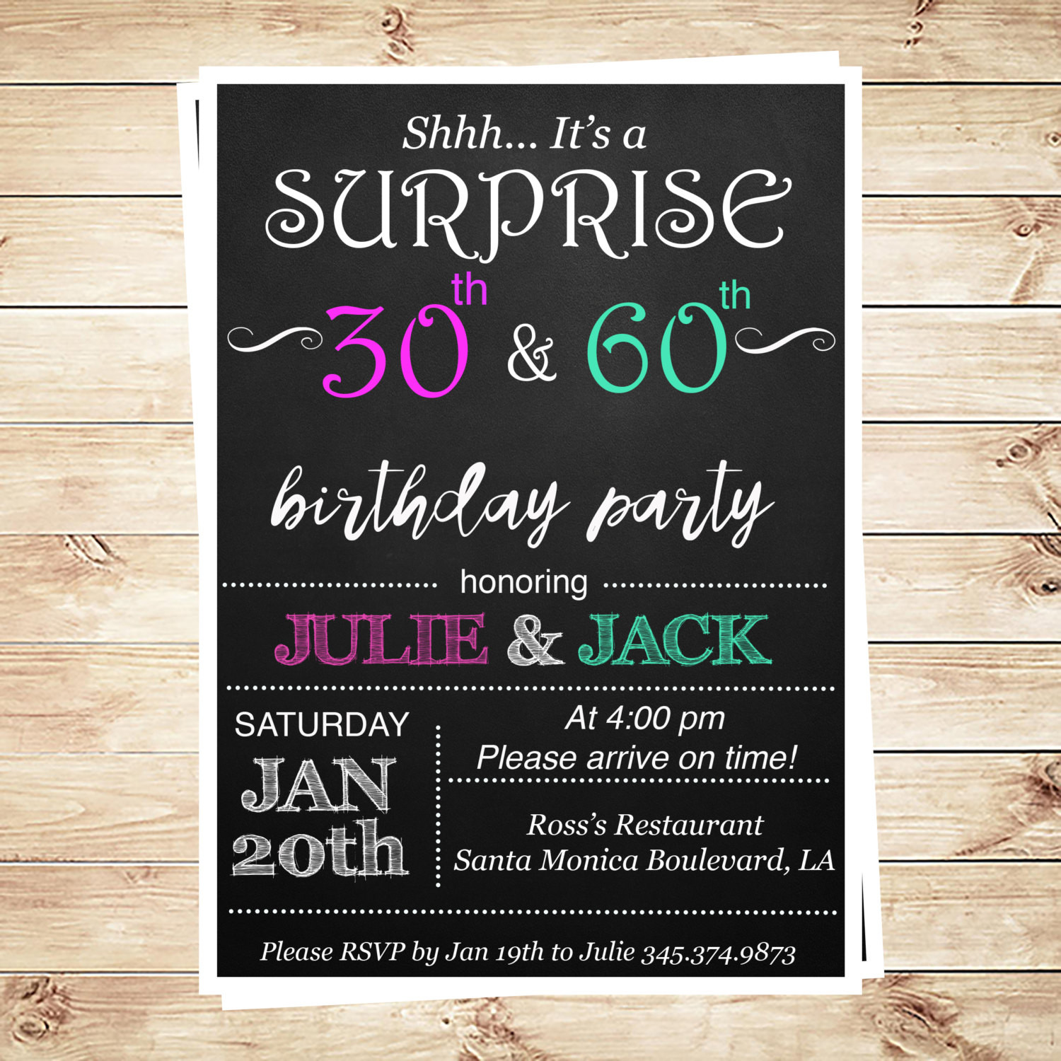 Best ideas about Birthday Invitations For Adults . Save or Pin Joint birthday party invitations for adults by Now.
