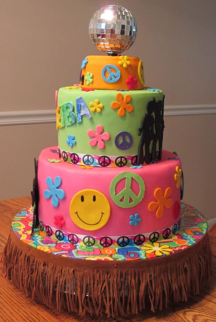 Best ideas about Birthday Party Cake . Save or Pin 70s cake cake ideas Now.