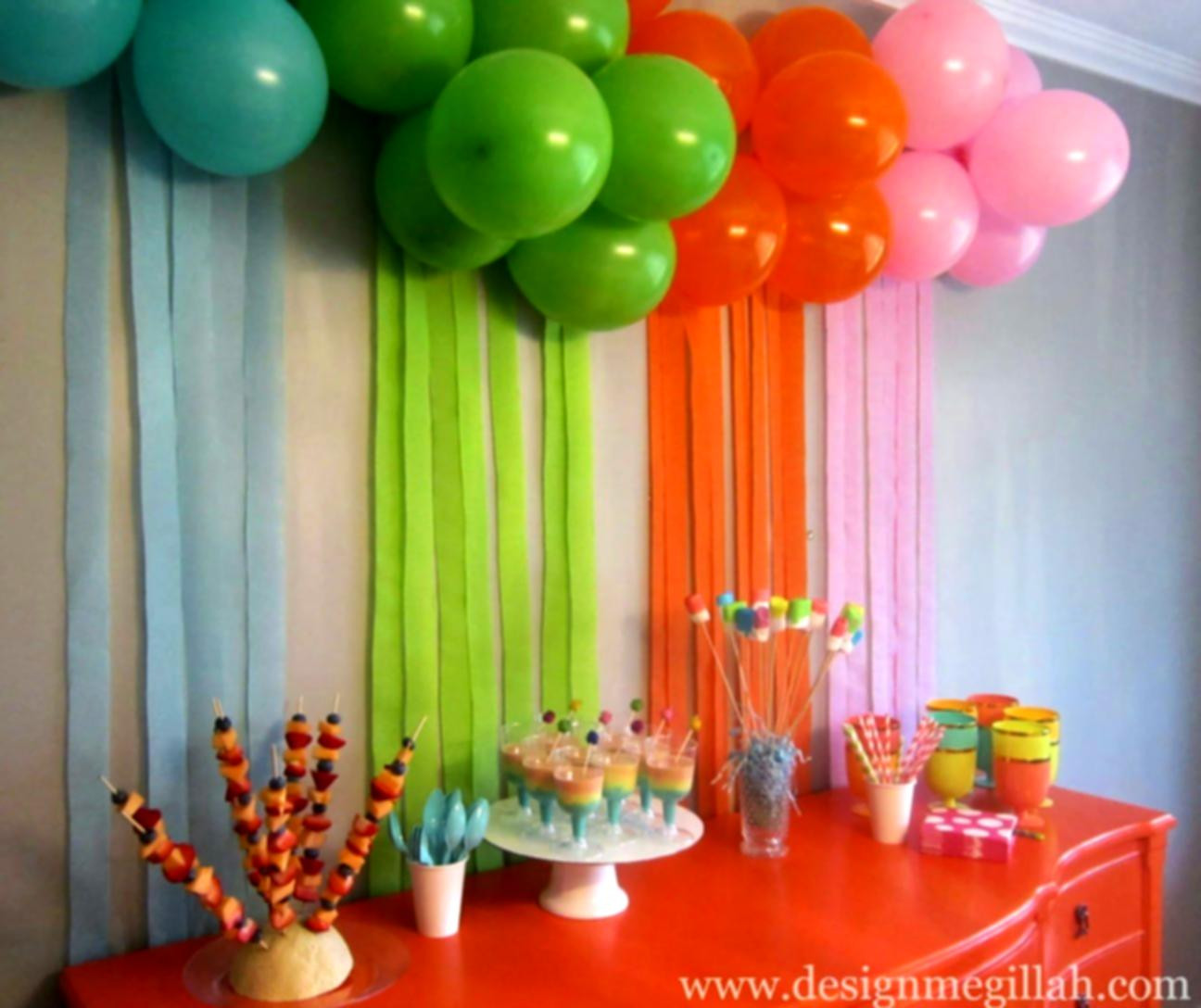Best ideas about Birthday Party Decorations At Home . Save or Pin 1st Birthday Decoration Ideas At Home For Party Favor Now.