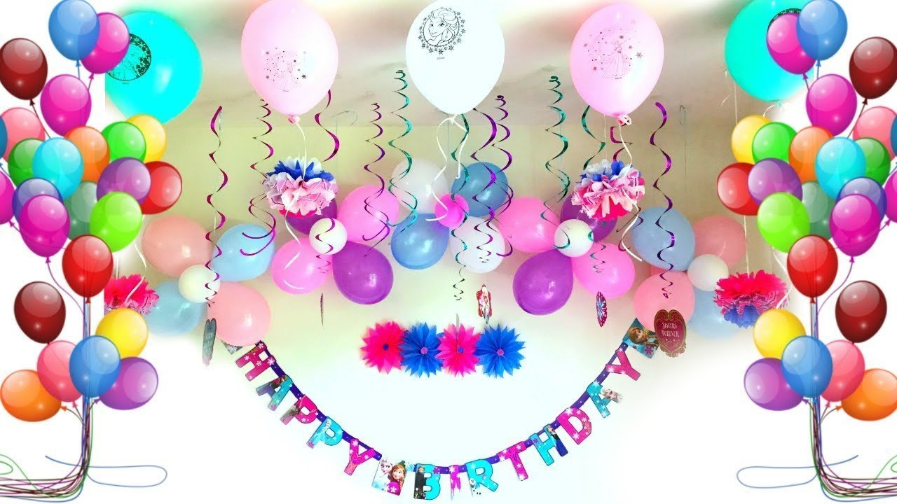 Best ideas about Birthday Party Decorations At Home . Save or Pin Party Decoration Ideas Birthday party decorations Now.