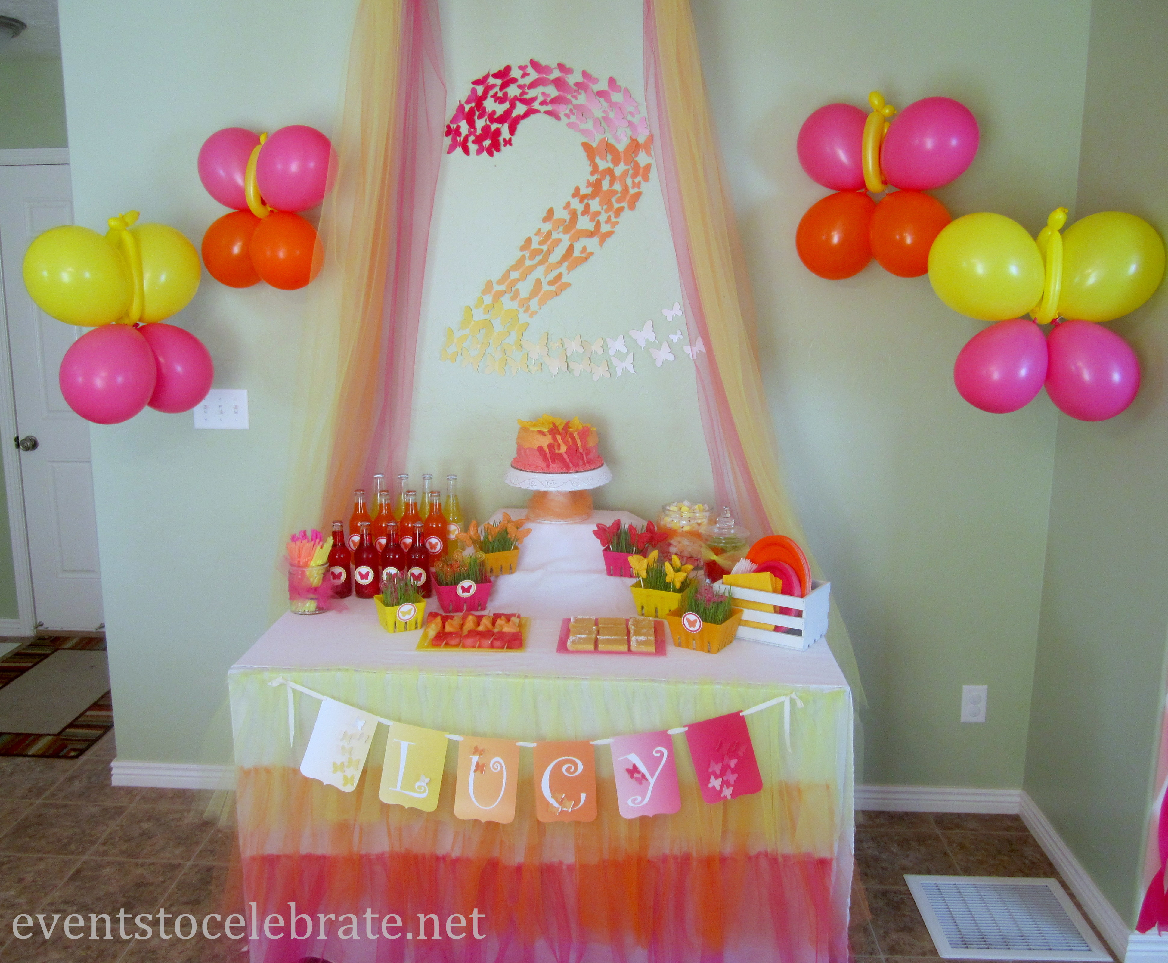 Best ideas about Birthday Party Decorations At Home . Save or Pin Butterfly Themed Birthday Party Decorations events to Now.