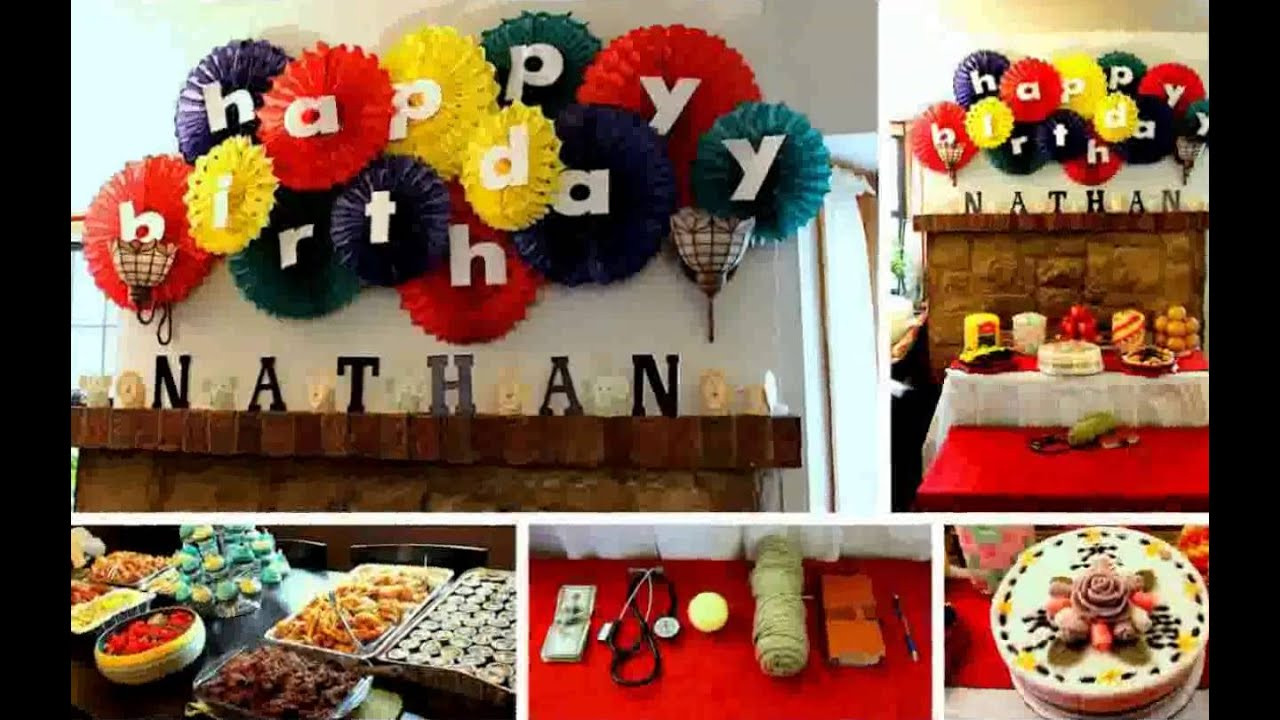 Best ideas about Birthday Party Decorations At Home . Save or Pin Birthday Decoration Ideas at Home Now.