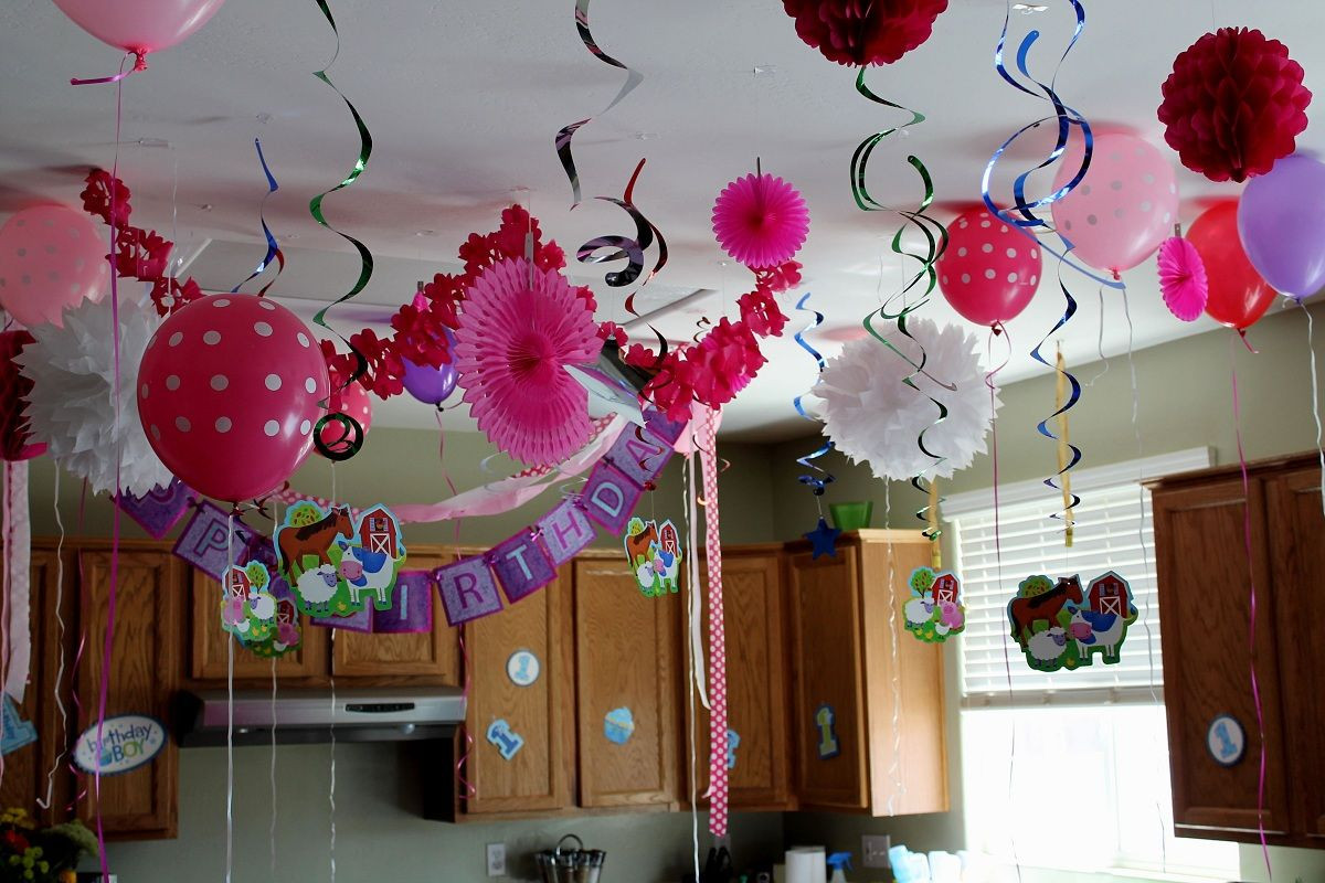 Best ideas about Birthday Party Decorations At Home . Save or Pin Happy Birthday Decoration Ideas For Home Now.