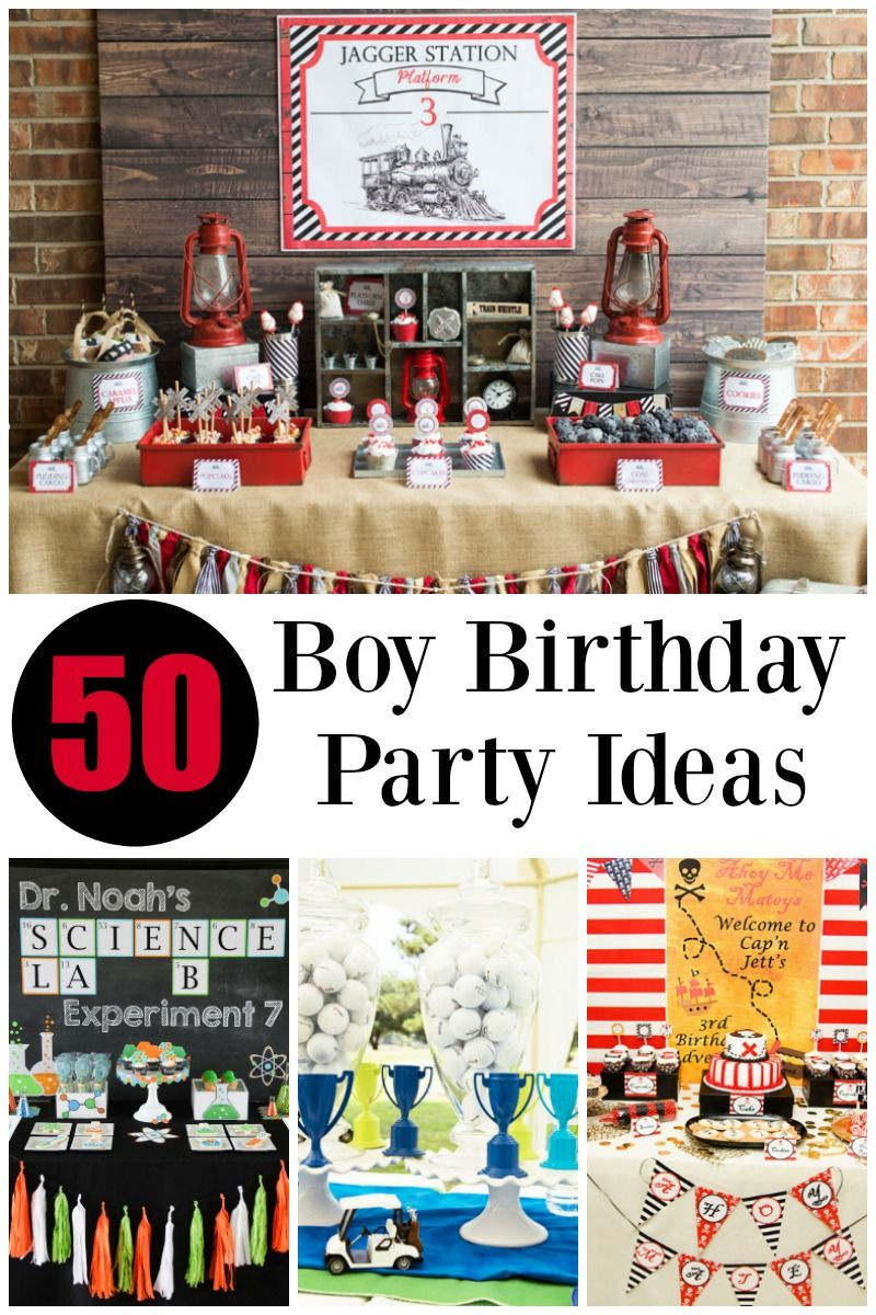 Best ideas about Birthday Party Ideas For Boys . Save or Pin 50 of the BEST Boy Birthday Party Ideas Now.