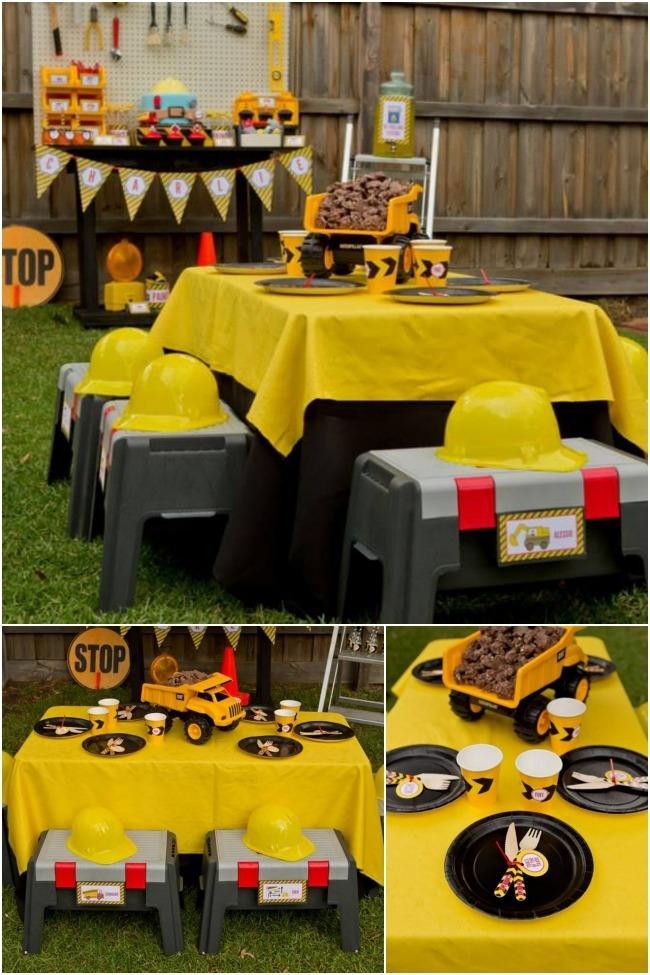 Best ideas about Birthday Party Ideas For Boys . Save or Pin Boys Construction Themed Birthday Party Ideas Spaceships Now.
