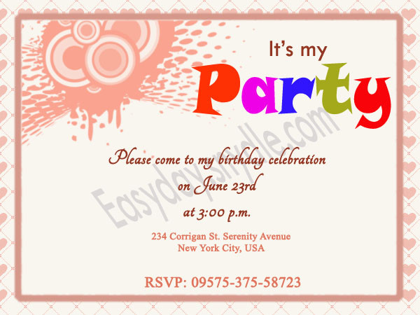 Best ideas about Birthday Party Invitation Message . Save or Pin Birthday Invitation Wording Easyday Now.