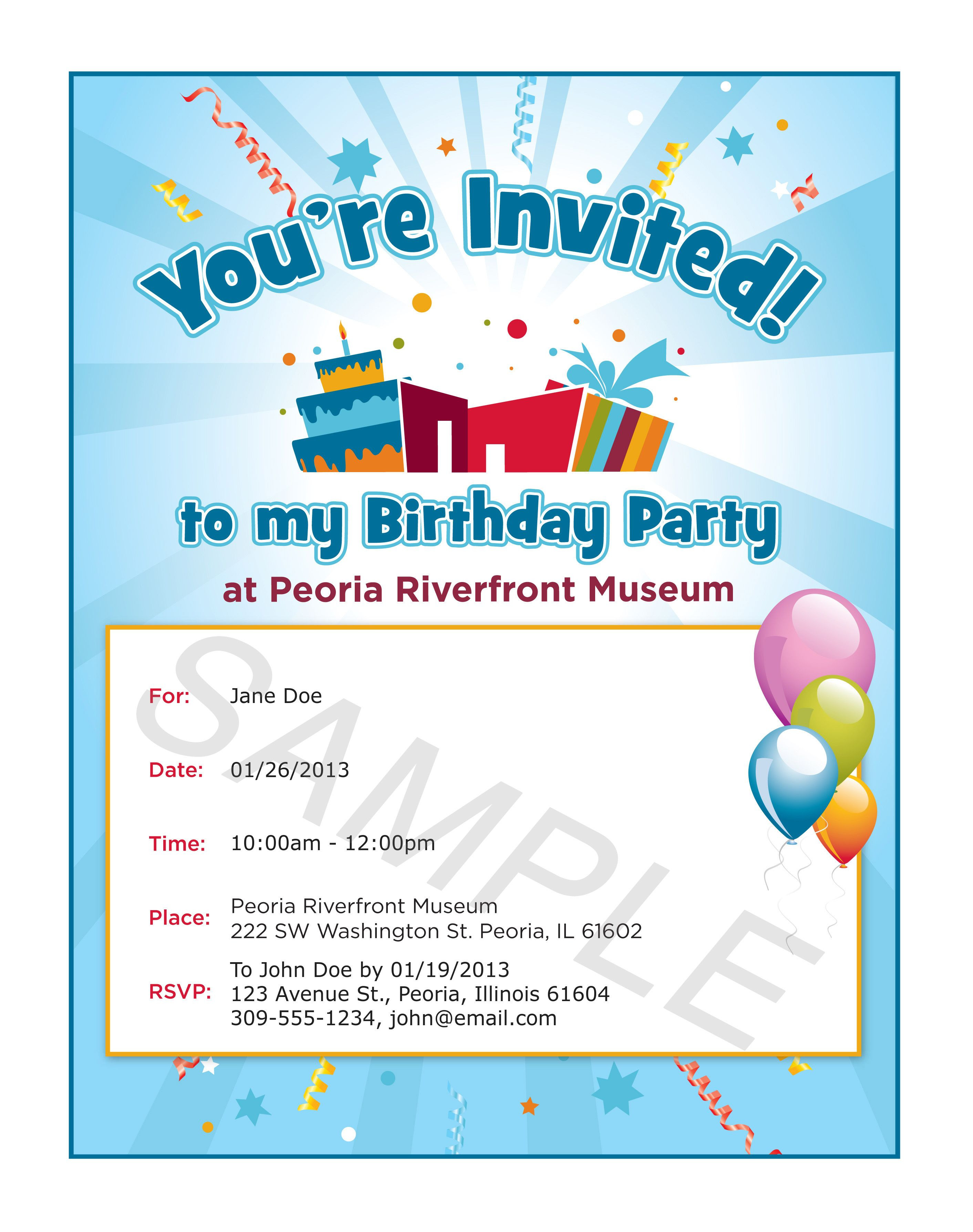 Best ideas about Birthday Party Invitation Message . Save or Pin Delectable Birthday Invitation Now.