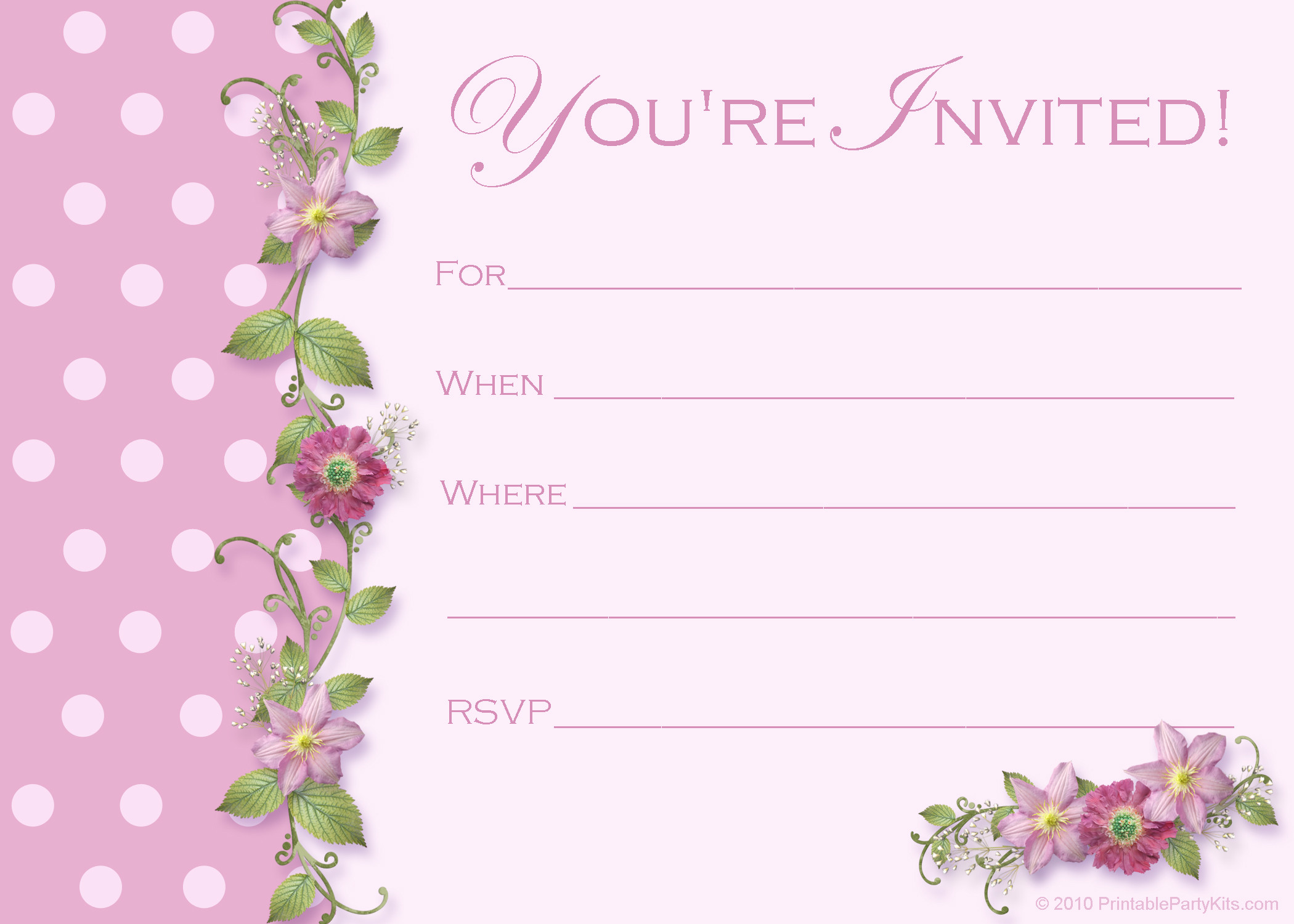 Best ideas about Birthday Party Invitation Template . Save or Pin FREE Sweet 16 Birthday Invitations – FREE Printable Now.