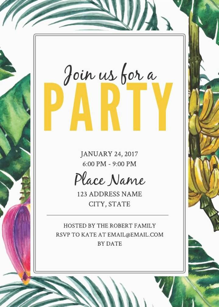 Best ideas about Birthday Party Invitation Template . Save or Pin 16 Free Invitation Card Templates & Examples Lucidpress Now.