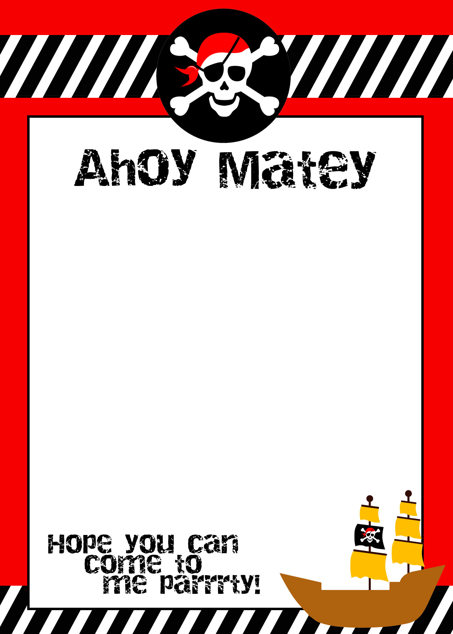 Best ideas about Birthday Party Invitation Template . Save or Pin Pirate Themed Birthday Party with FREE Printables How to Now.