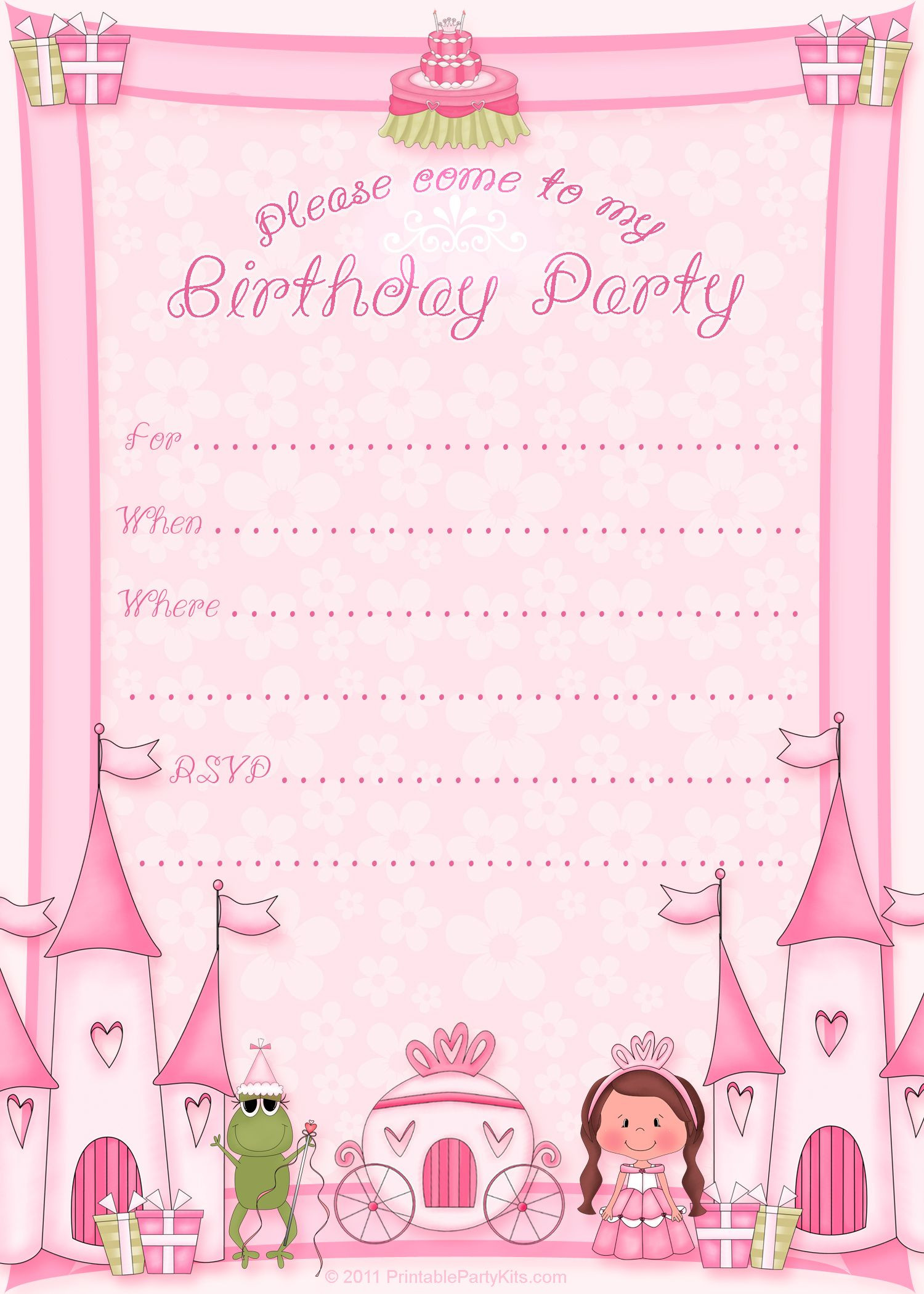Best ideas about Birthday Party Invitation Template . Save or Pin Free Printable Invitation Pinned for Kidfolio the Now.