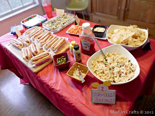 Best ideas about Birthday Party Menu . Save or Pin Homemade Mickey Mouse Birthday Party Menu Mad in Crafts Now.