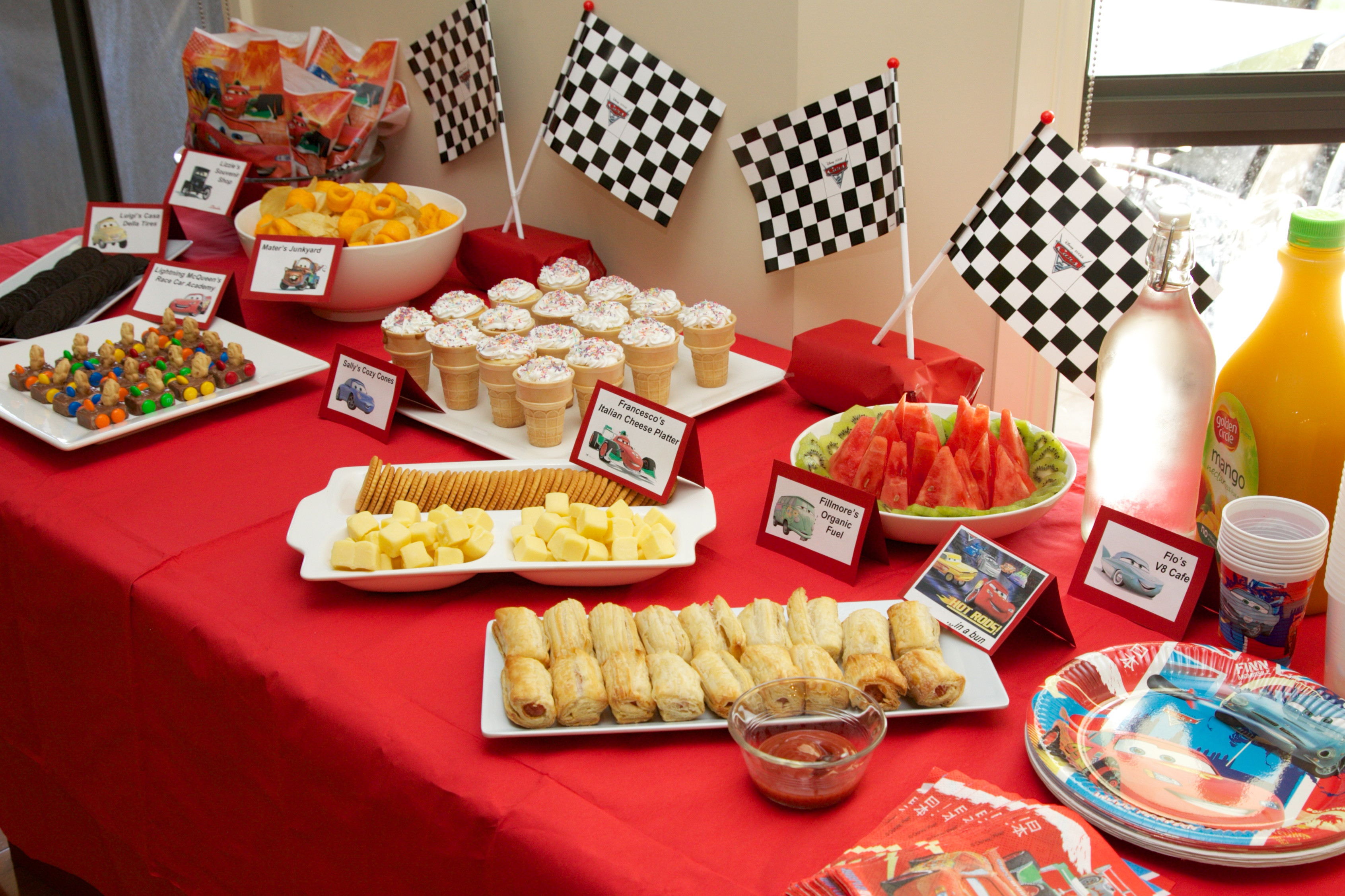 Best ideas about Birthday Party Menu . Save or Pin Disney Cars Birthday Party on a Bud Kidz Activities Now.