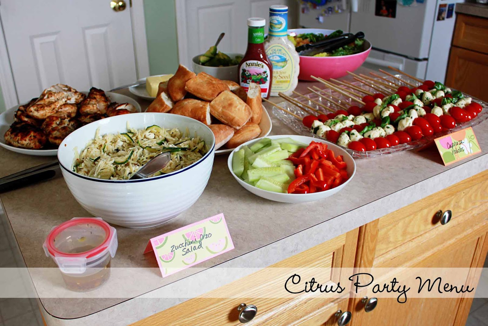 Best ideas about Birthday Party Menu . Save or Pin Katie s Nesting Spot A Citrus Themed Birthday Party Menu Now.