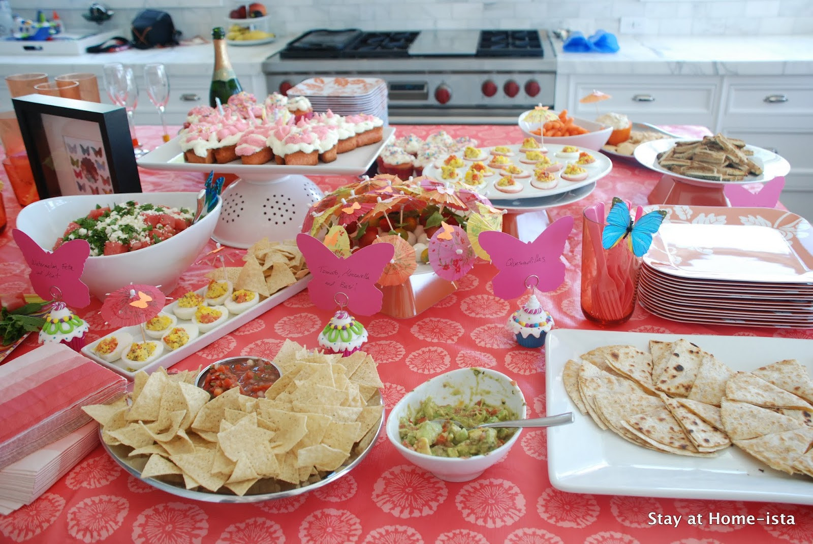 Best ideas about Birthday Party Menu . Save or Pin Stay at Home ista Summer Party Menu Food for a Butterfly Now.