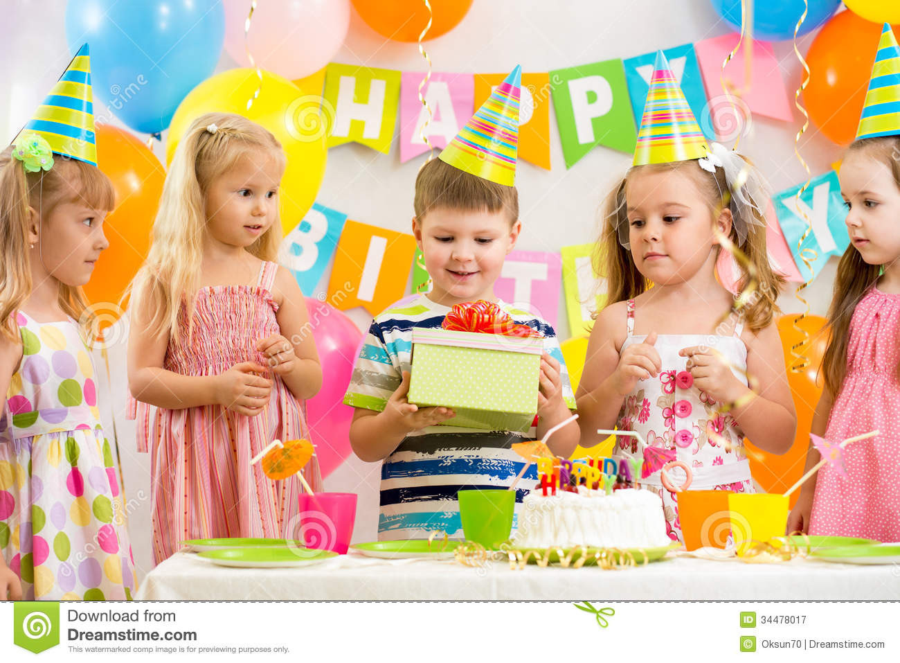 Best ideas about Birthday Party Photography . Save or Pin Group Kids At Birthday Party Stock Image Image of Now.