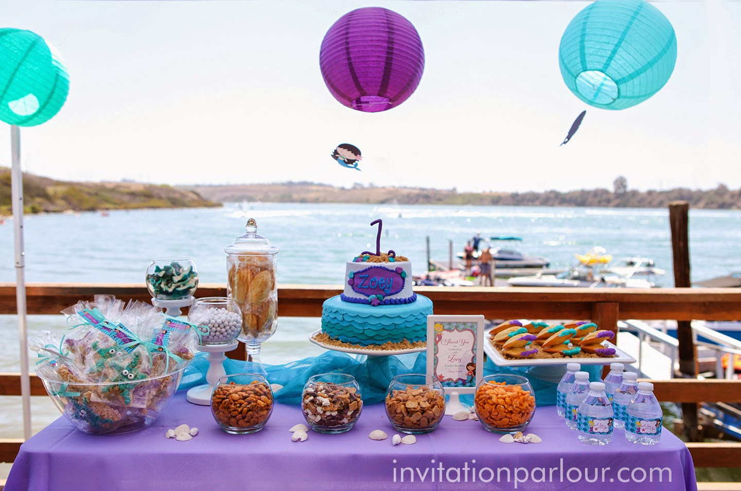 Best ideas about Birthday Party San Diego . Save or Pin Invitation Parlour Mermaid Under the Sea Birthday Party Now.