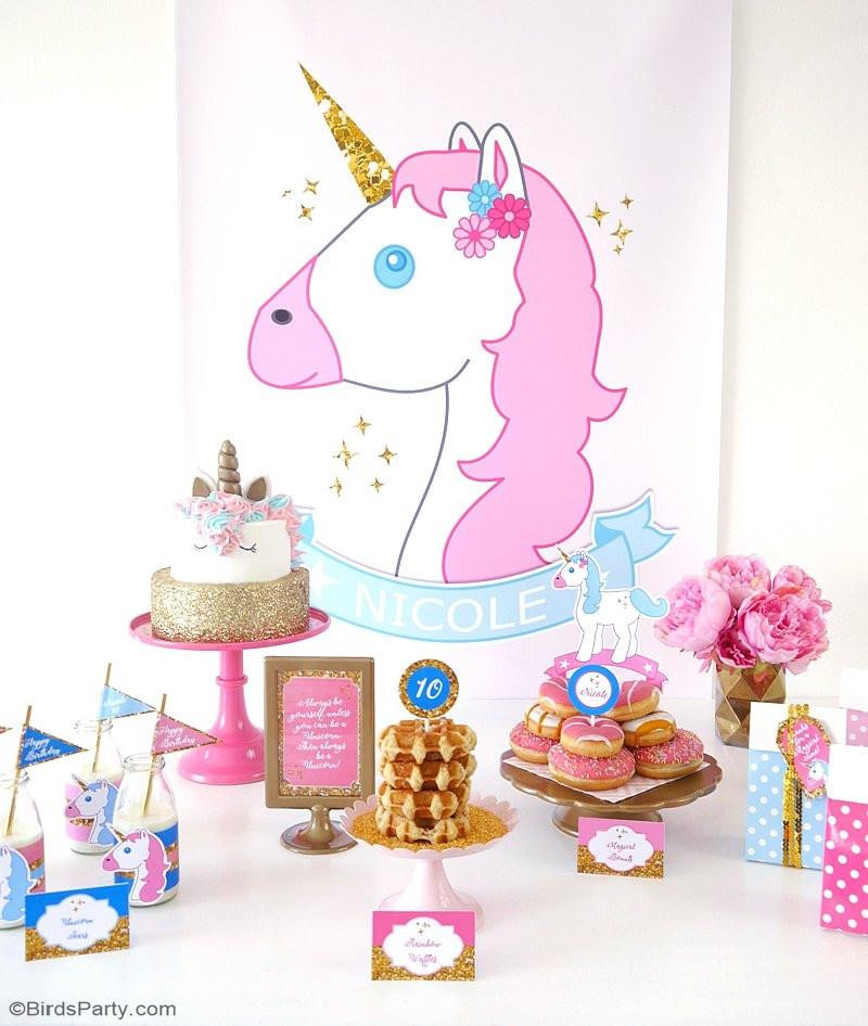 Best ideas about Birthday Party Supplies Online . Save or Pin Unicorn Birthday Party Printables Supplies Now.