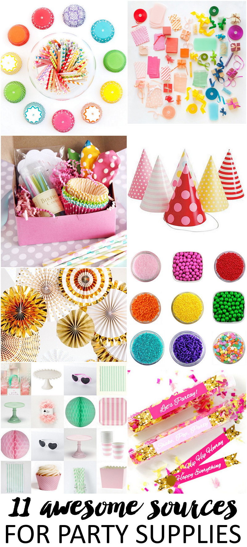 Best ideas about Birthday Party Supplies Online . Save or Pin 11 Awesome Sources For Party Supplies Now.