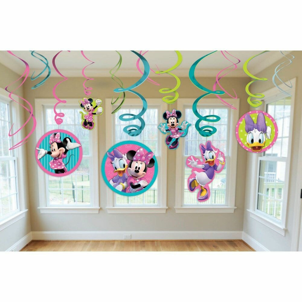Best ideas about Birthday Party Supplies Online . Save or Pin 12 pc Disney Minnie Mouse Hanging Swirls Birthday Now.