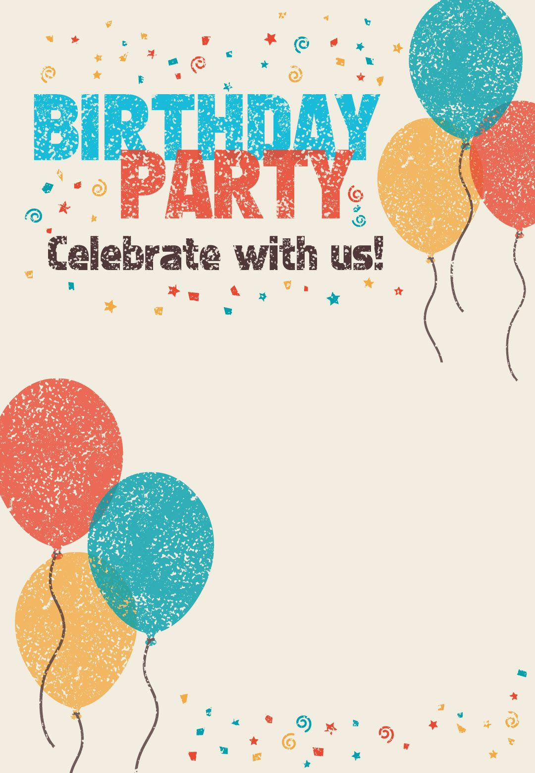 Best ideas about Birthday Party Templates . Save or Pin Free Printable Celebrate With Us Invitation Great site Now.