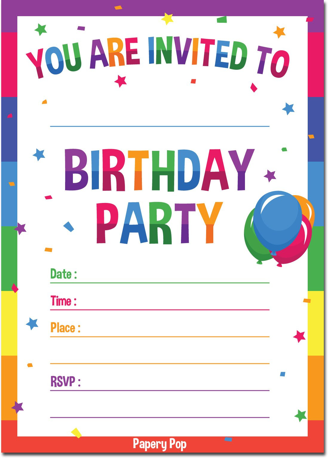 Best ideas about Birthday Party Templates . Save or Pin Best Rated in Kids Party Invitations & Birthday Cards Now.
