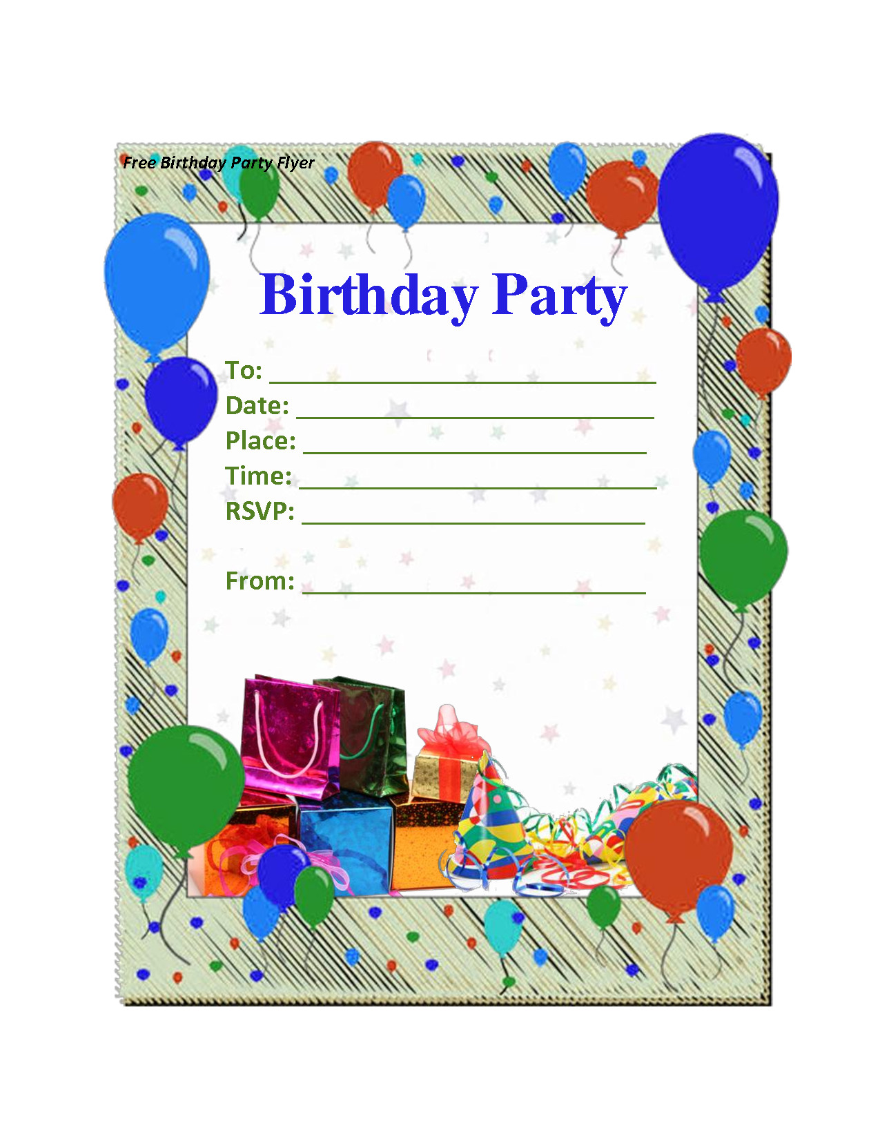 Best ideas about Birthday Party Templates . Save or Pin Free Birthday Invitations Printables Now.