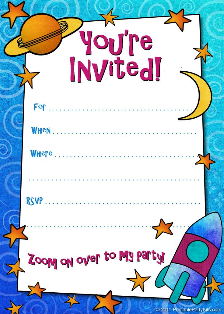 Best ideas about Birthday Party Templates . Save or Pin Free Printable Boys Birthday Party Invitations Now.
