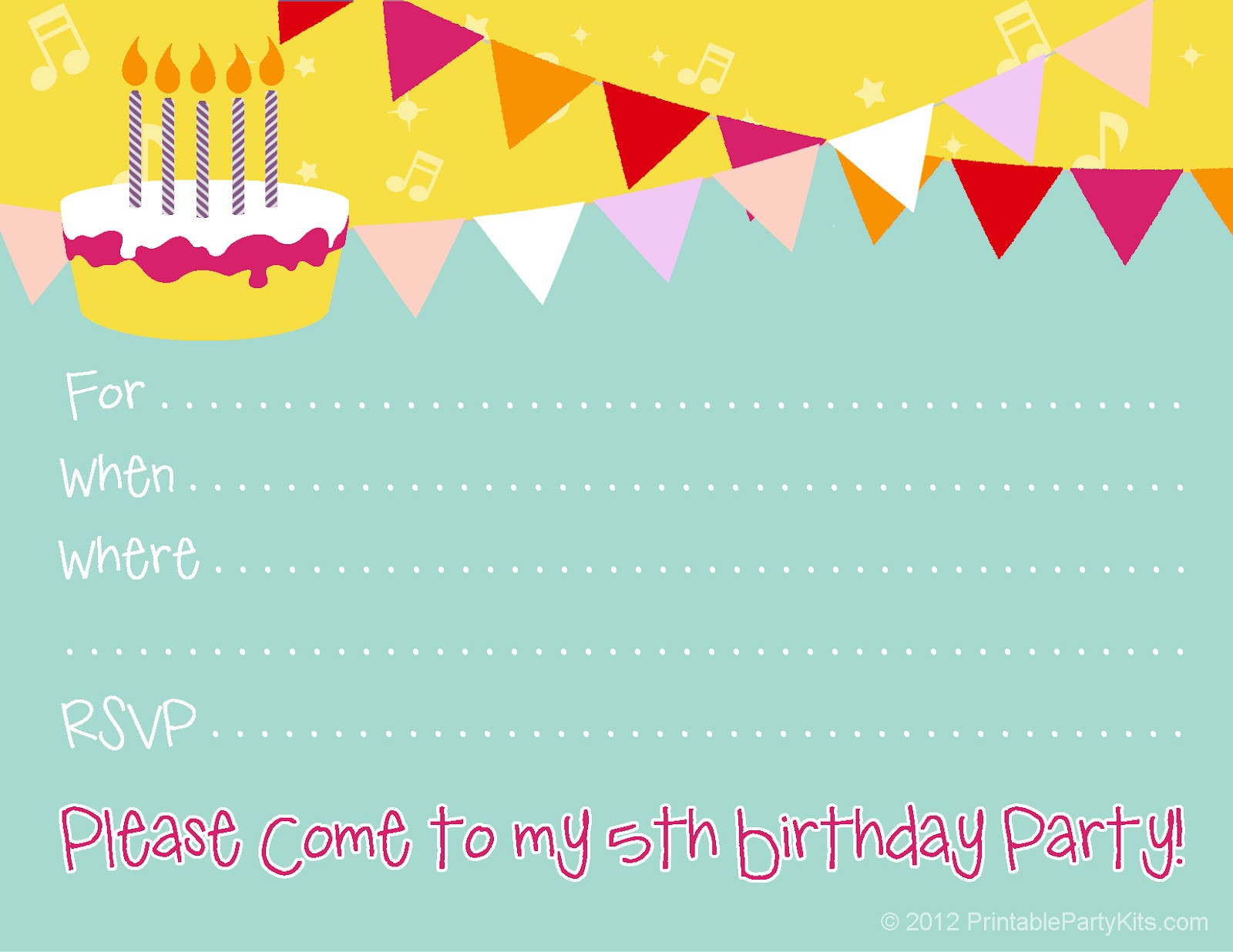 Best ideas about Birthday Party Templates . Save or Pin Free Birthday Party Invitations for Girl – FREE Printable Now.