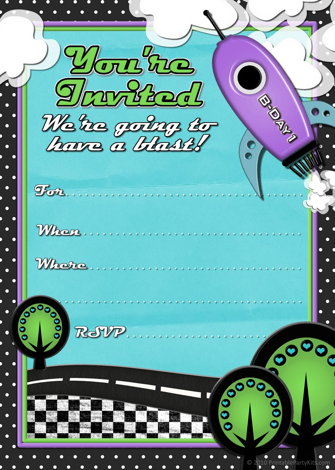 Best ideas about Birthday Party Templates . Save or Pin 41 Printable Birthday Party Cards & Invitations for Kids Now.