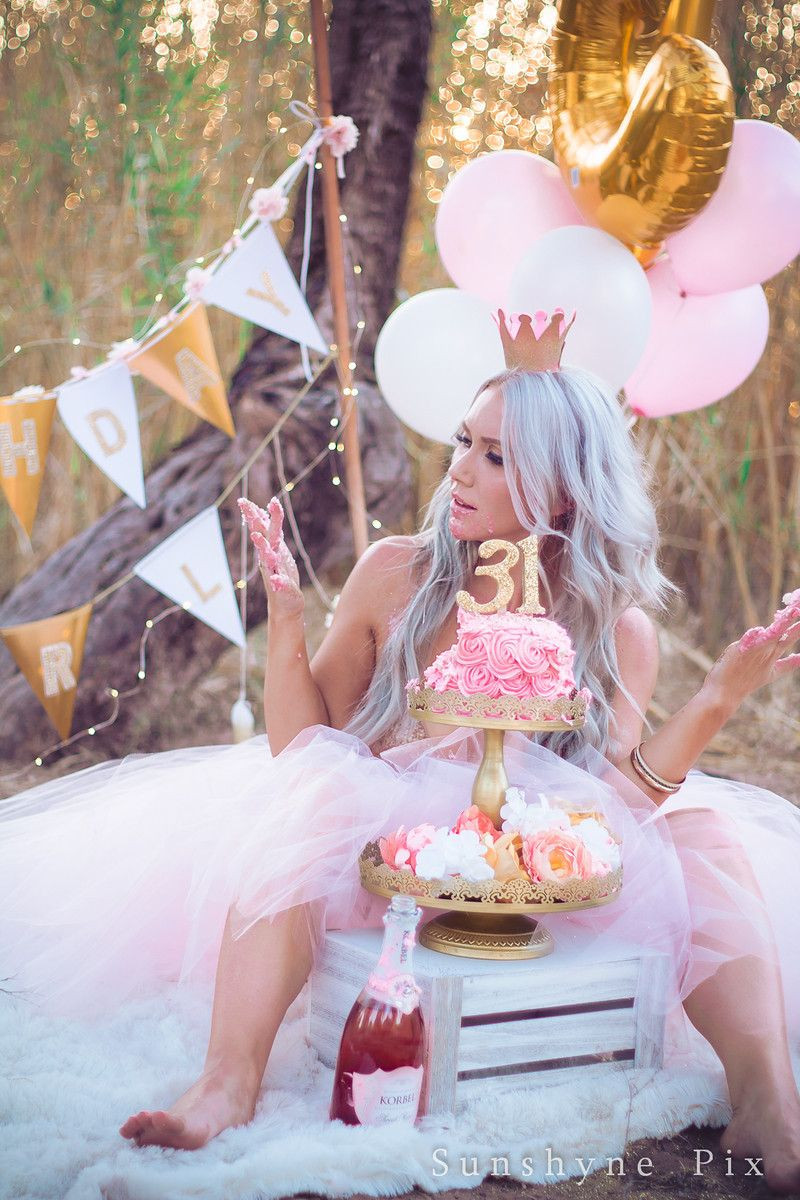 Best ideas about Birthday Photoshoot Ideas For Adults . Save or Pin Kirsti s Golden Birthday Adult Cake Smash session Now.