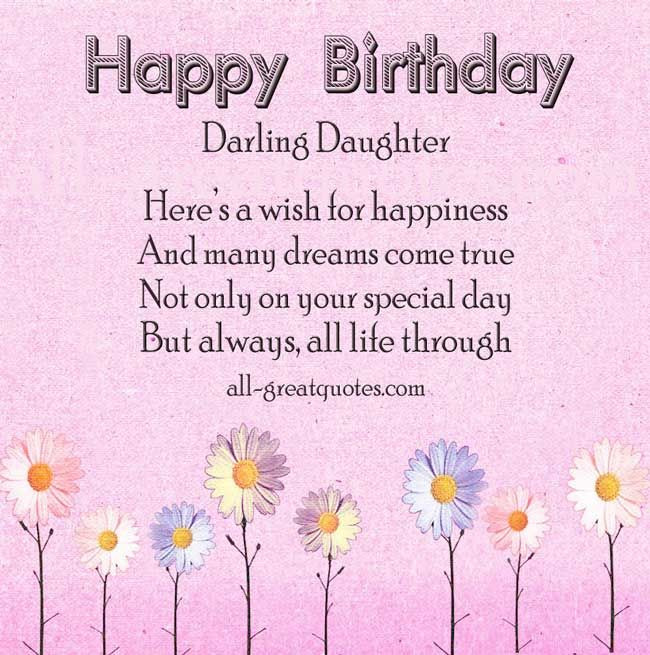 Best ideas about Birthday Quote For Daughter . Save or Pin 17 Best ideas about Birthday Wishes Daughter on Pinterest Now.