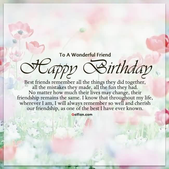 Best ideas about Birthday Quotes For Best Friend . Save or Pin 60 Wonderful Best Friend Birthday Quotes – Nice Birthday Now.